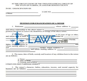 Form Packet For Emancipation Florida Forms Lawscom - Indiana legal forms