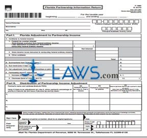 Form F 1065 Florida Partnership Information Return With Instruction