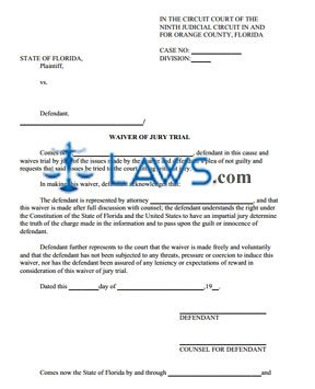 Waiver of Jury Trial