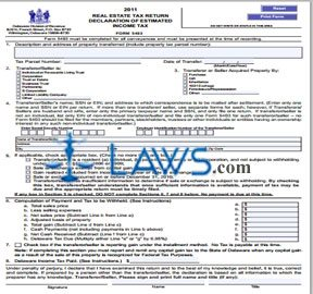 Form 5403 Real Estate Tax Return Declaration of Estimated Income Tax