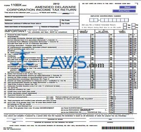 Form 1100X Amended Corporate Income Tax Returns