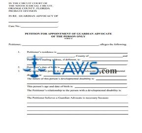 Form D - Petition of Appointment