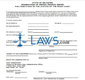 RENEWAL APPLICATION FOR DESIGNATION AS SPECIAL PROCESS SERVER