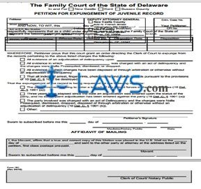 Petition for Expungement of Juvenile Record