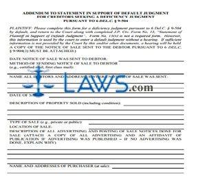 ADDENDUM TO STATEMENT IN SUPPORT OF DEFAULT JUDGMENT