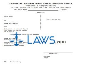 Industrial Accident Board Appeal (IAB or Worker's Compensation)