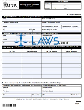 Form R-7004 Tax Information Disclosure Authorization