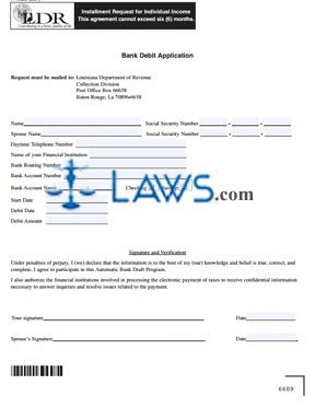 Form R-19026B Bank Debit Application