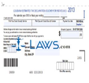 Form IT-540ES Estimated Tax Voucher for Individuals - Louisiana ...