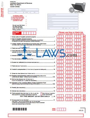 Form 1029 Sales Tax Return