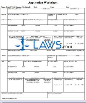 Form Marriage Application