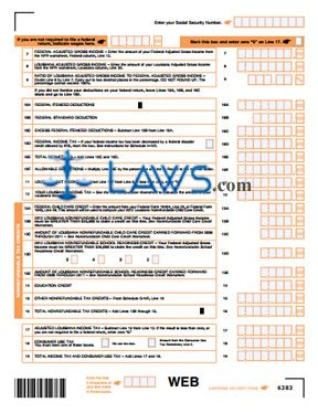 Form IT-540B Nonresident Income Tax Return