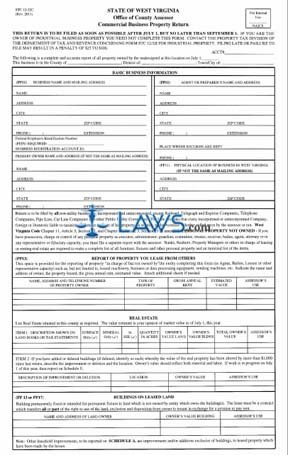 Form STC-1232C Commercial Business Property Return
