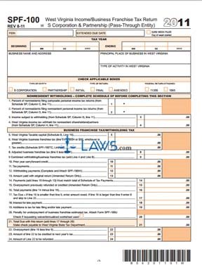 Form SPF-100 Income Business Franchise Tax Return