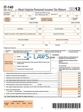 Form IT-140 Personal Income Tax Return - Tax Forms - | Laws.com