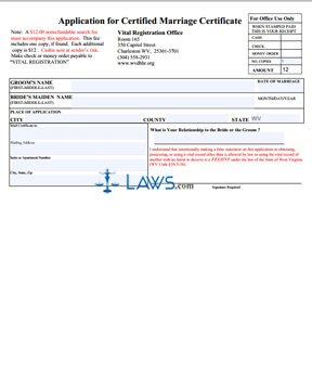 Form Application for Certified Marriage Certificate
