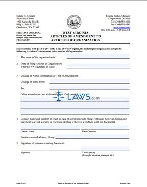 Form LLD-2 Amendment to Articles of Organization