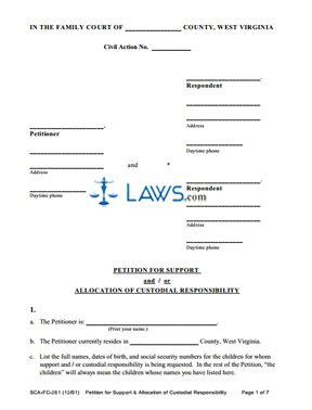 Form 1 Petition for Appointment of Guardian