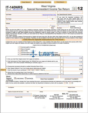 Form IT-140 NRS Special Non-Resident Income Tax Return | Legal Forms