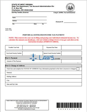 Form IT-140ES Individual Estimated Income Tax Payment - West ...
