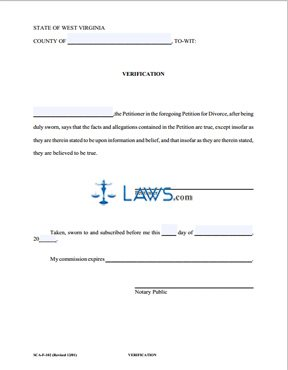 Form Sca Fc 102 Verification For Petitioner West Virginia Forms