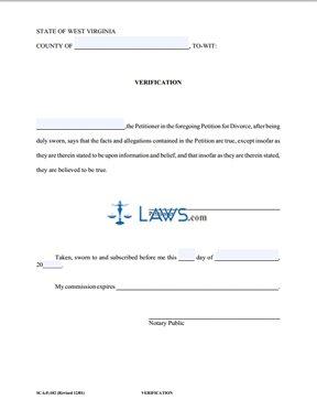 Form SCA-F-102 Verification - West Virginia Forms - | Laws.com