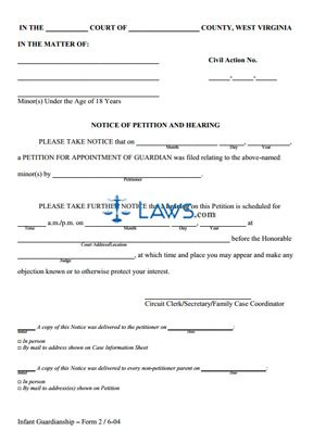 Notice of Petition and Hearing
