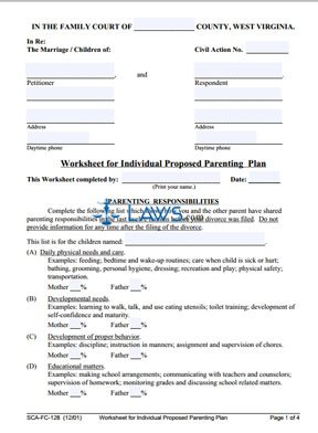 state requirements for parenting plans Parenting plan forms pursuant to public chapter 127, amending tca §36-6-404, the administrative office of the courts developed a parenting plan form that shall be used consistently by each court within the state that approves parenting plans pursuant to §36-6-403 or §36-6-404.