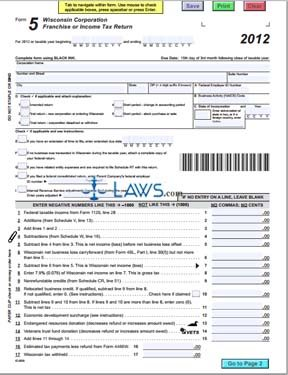 Form 5 Wisconsin Corporation Franchise or Income Tax Return