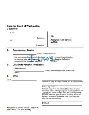 Form DRPSCU1-0310 Acceptance of Service