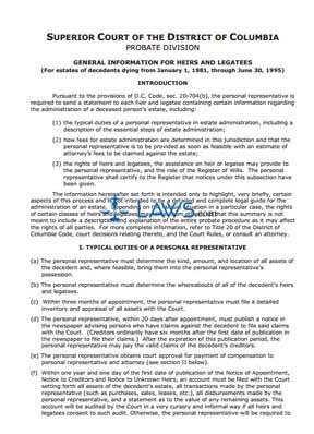 General Information Sheet