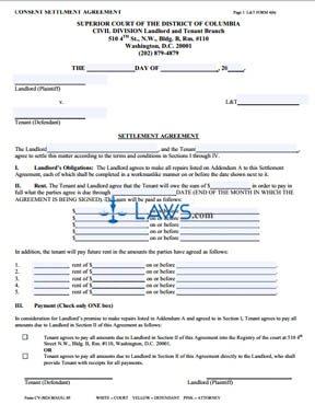 Consent Settlement Agreement