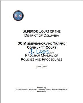 DC Misdemeanor and Traffic Community Court Procedures