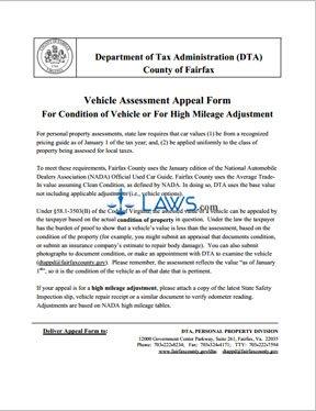 Virginia Car Tax >> Car Tax Appeal Form Virginia Forms Laws Com