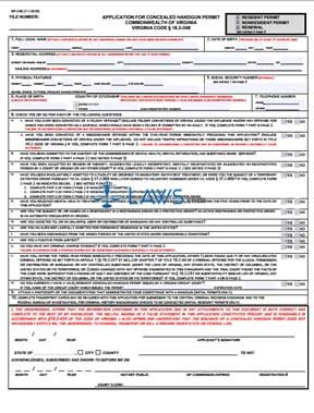 Form Application for Concealed Handgun Permit