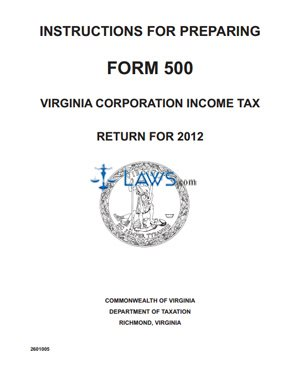 Form Instructions for Preparing Form 500 Corporation Income Tax ...