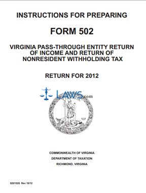 Form Instructions for Preparing Form 502 Pass-Through Entity ...
