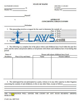 Form cv 051 affidavit concerning child custody maine forms form cv 051 affidavit concerning child custody thecheapjerseys Gallery