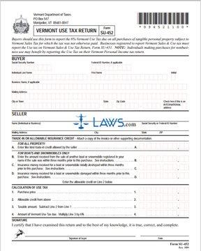 Form SU-452 Use Tax Return