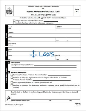 Form S-3 Resale and Exempt Organization