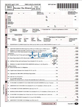 Form IN-111 Income Tax Return