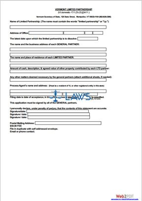Form Limited Partnership Application