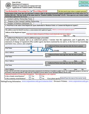 Form Application for LLP