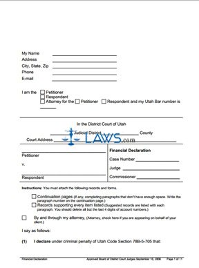 Form Financial Declaration