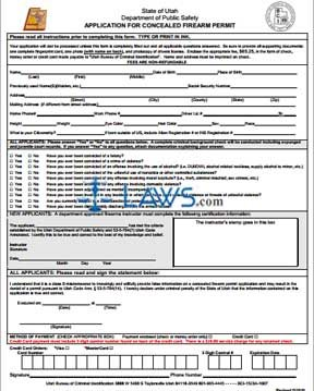 Form Application for Concealed Firearm Permit