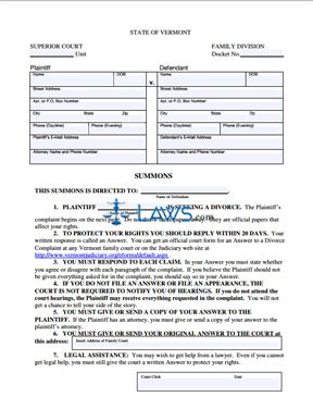 Form 836 Complaint for Divorce With Children