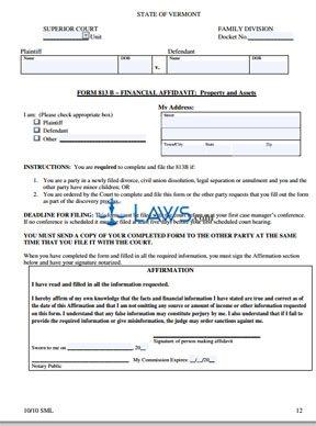 Property Affidavit