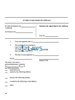 Notice of Argument On Appeal