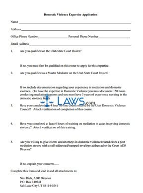 Domestic Violence Expertise Application