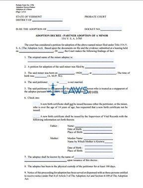 Adoption Decree Partner